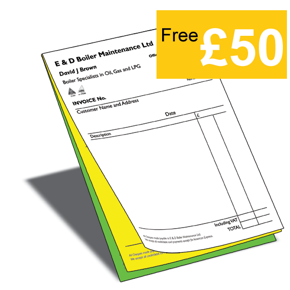 NCR Invoice Pads Polstead Press - Invoice pads
